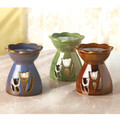 Flower Cutout Porcelain Oil Warmer Set