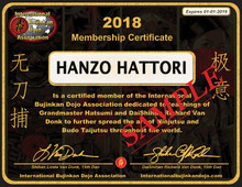 MEMBERSHIP IBDA International Bujinkan Dojo Association