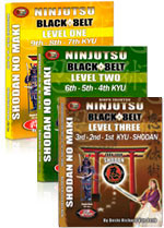 NINJUTSU SHODAN ALL THREE BOOKS