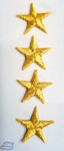 3/4 inch gold stars