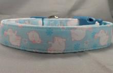 Easter Bunnies on Blue Dog Collar