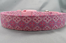 Pink and Purple Scroll Dog Collar