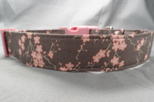 Pink Dogwood Blossoms on Gray Dog Collar