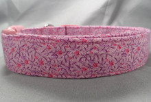 Little Pink Flowers on Orchid Dog Collar