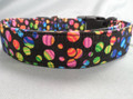 Rainbow Swirl Polka Dots Dog Collar