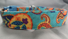 Dog Days French Paisley Blue and Yellow Collar