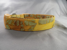 Dog Days Yellow Bamboo Batik Collar
