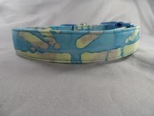 Dog Days Blue Bamboo Batik Collar