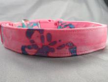 Dog Days Butterflies on Pink Batik Collar