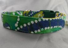Dog Days Green Polka Dot Batik Collar