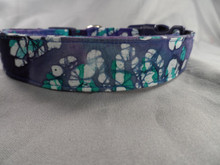 Dog Days Blue Polka Dot Batik Collar