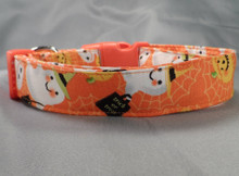 Happy Halloween Characters Orange Dog Collar