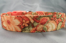 Autumn Colors Flower Dog Collar