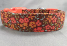 Cute Little Fall Flowers Dog Collar