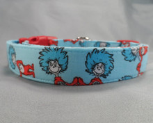 Thing One and Thing Two Dog Collar Rescue Me Collar