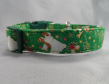 Angels on Green Christmas Dog Collar