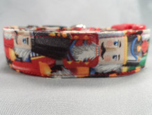 Colorful Nutcrackers Christmas Dog Collar