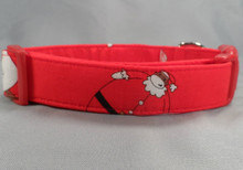 Red Santa Sock Monkey Christmas Dog Collar