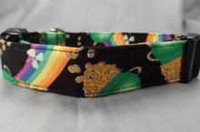 Rainbows and Gold Dog Collar