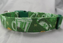 Sparkling Green Beer Dog Collar