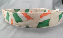 Cream Irish Flag Dog Collar