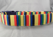 Bold Color Stripe Dog Collar
