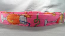 Summer Cocktails Hot Pink Dog Collar Rescue Me dog collar