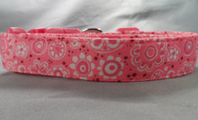 Frilly Flowers Pink Dog Collar Rescue Me Collar