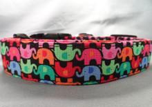 Lucky Elephants Dog Collar rescue me collar