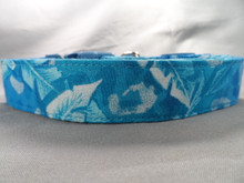 Blue Hawaiian Dog Collar rescue me