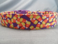 Candy Corn Purple Halloween Dog Collar Rescue Me Dog Collar
