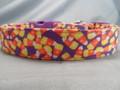 Candy Corn Purple Halloween Dog Collar Rescue Me Dog Collar