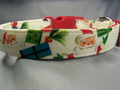 Cream Vintage Santa Christmas Dog Collar