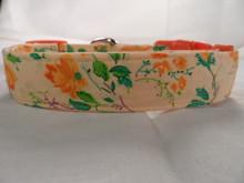Peach and Orange Flower Dog Collar
