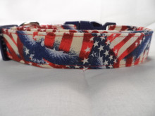 Patriotic Stars Stripes and Eagles Dog Collar
