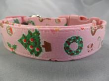 Pretty Pink Christmas Dog Collar