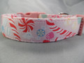 Pastel Peppermints Pink Christmas Dog Collar