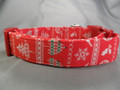 Red Ugly Christmas Sweater Dog Collar