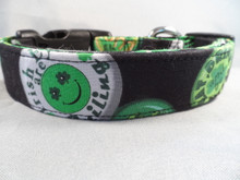 St. Patrick's Day Dog Collar, Irish Slogans Rescue Me Collar