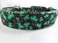 St. Patrick's Day Dog Collar, Sparkling Shamrocks Rescue Me Collar