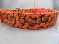 Halloween Dog Collar Little Pumpkins and Jack O Lanterns Rescue Me Collars