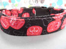 Valentine Dog Collar Roll the Dice Boy Valentine Dog Collar Rescue Me Dog Collar