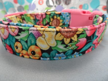 Funky Dog Collar Collar, Bright Flower Splash, Girl Dog Collar