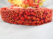 Dog Collar for Fall, Mums and Flowers Rescue Me Collars
