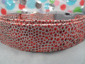 Snake Skin Print Red Dog Collar Rescue Me Collar