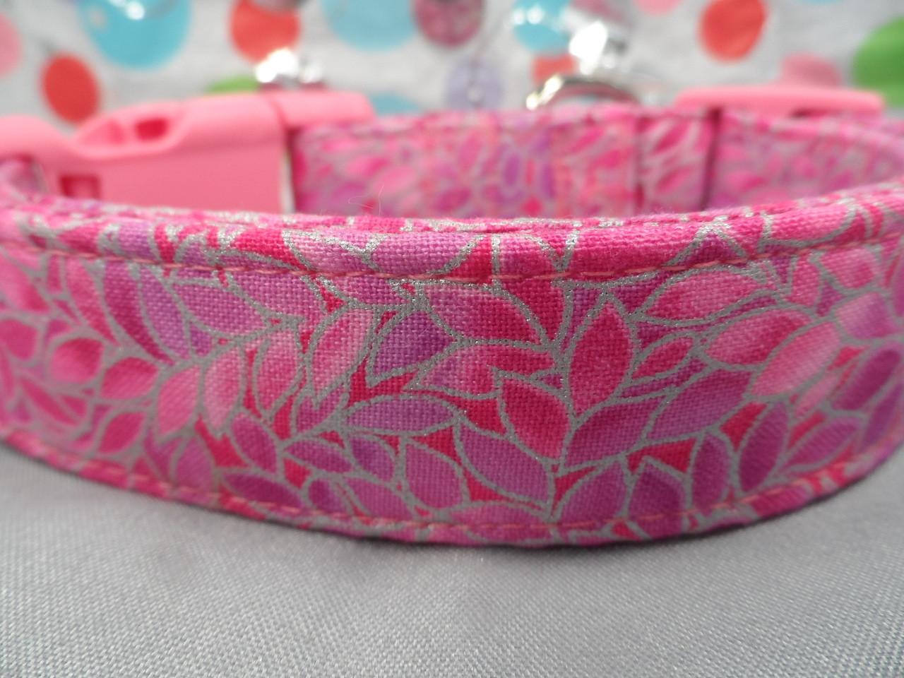 Pretty Petals Pink Girl Dog Collar