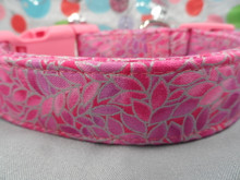 Pretty Petals, Pink Girl Dog Collar rescue Me Collar