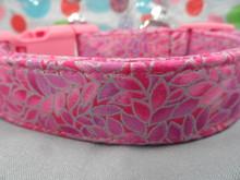 Pretty Petals, Pink Girl Dog Collar rescue Me Collar