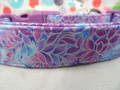 Pretty Petals, Purple Girl Dog Collar Rescue Me Collar