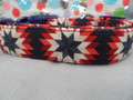 Patriotic Dog Collar Red White and Blue Quilt Design Rescue Me Collars